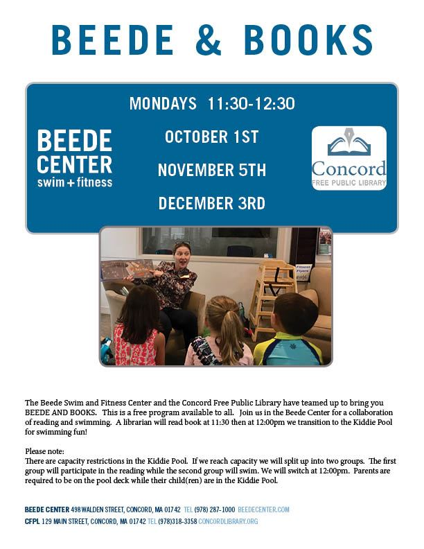 Beede and Books Flyer Fall 2018